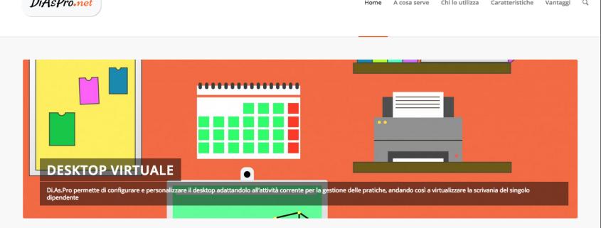 Home page del sito web diaspro.net che abbiamo dedicato a Di.As.Pro